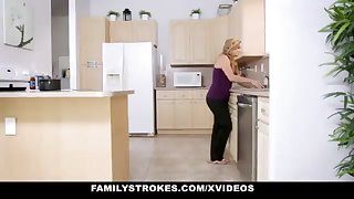 FamilyStrokes - Fond Step-Sister Together with Mother Tricked Together with Romped By StepBro