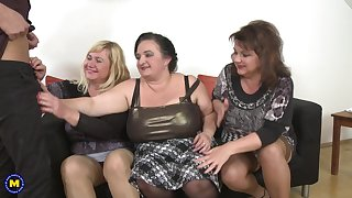Kirsi and her MILF friends take in agreement care of his pulsating schlong