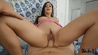 See her trimmed pussy mammal soaked and enlarged