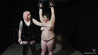 Chubby amateur pledged increased by tortured by her kinky friend. HD video