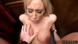 Big-Breasted Blonde Babe Gets Banged During Confession