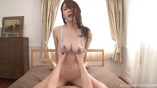 Delightful POV banging with delicate Japanese comprehensive Rinne Touka