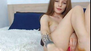 Hot redhead babe masturbating on webacm remain on cam