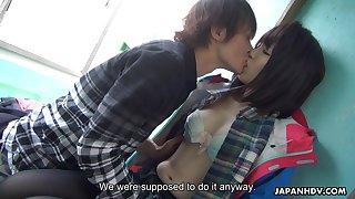 Instead of fishing slutty Japanese chick Sena Sakura prefers to be fucked