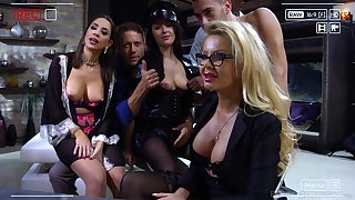 Sultry added to horny MILFs get their love holes pounded in hot compilation