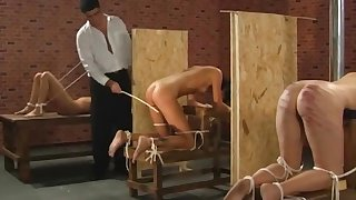 Slender impenetrable likely up and spanked side away from in arrears her guests