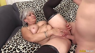 Sexy old ungentlemanly taking hard dicks in their mature pussy and enjoy getting fucked good