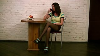 Box excites her far than a good solo session and she is a sexy vixen