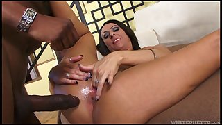 Hot MILF Jet-black Ebon has over again of experience with big black cocks