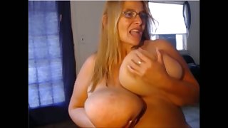 This BBW can slap you there her massive breasts and she loves masturbating