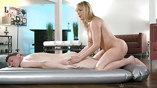 Massage sex excites and stimulates hot blonde MILF Dana DeArmond