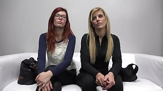 Casting milf Sarka added to her redhead stepdaughter