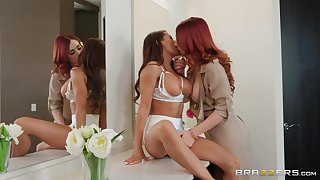 Improper strapon sex for hotties Madison Ivy and Molly Stewart