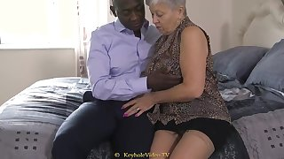 Giant Boob Grandma With A Cock-Squeezing Labia